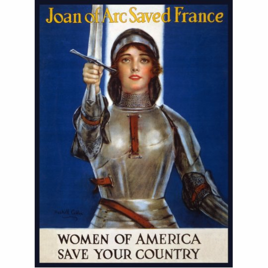 Joan of Arc WPA French American Feminism Ads Pinup Cutout