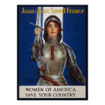 Joan of Arc WPA French American Feminism Ads Pinup Posters