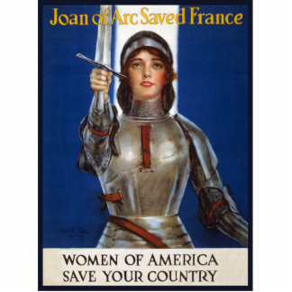 Joan of Arc WPA French American Feminism Ads Pinup Standing Photo Sculpture