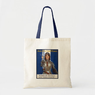 Joan of Arc WPA French American Feminism Ads Pinup Tote Bag