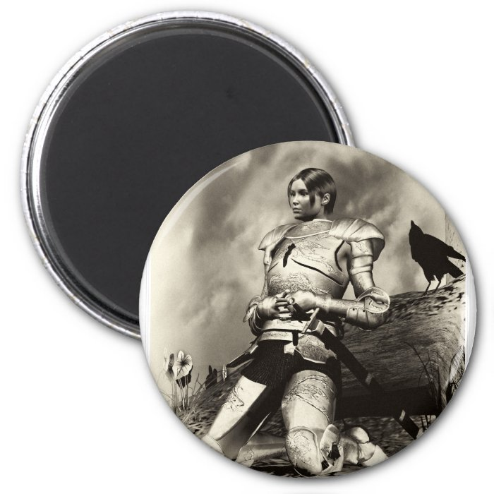 Joan Of Arch 2 Inch Round Magnet