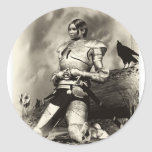 Joan Of Arch Round Stickers