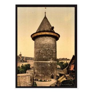 Joan of Arc's Tower, Rouen, France vintage Photoch Postcard