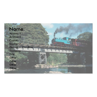 Joan W & LLR No. 12 on the Banwy River Bridge, Wal Business Card Templates