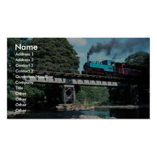 Joan W & LLR No. 12 on the Banwy River Bridge, Wal Business Cards