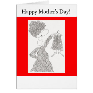 joan with hanger, Happy Mother's Day! Cards