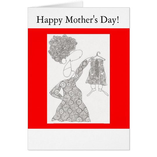 joan with hanger, Happy Mother's Day! Card