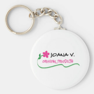 Joana V Original Basic Round Button Keychain