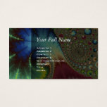 Joanie 50 Fractal Art Business Card