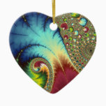 Joanie 50 Fractal Art Ceramic Ornament