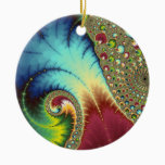 Joanie 50 Fractal Art Ceramic Ornament