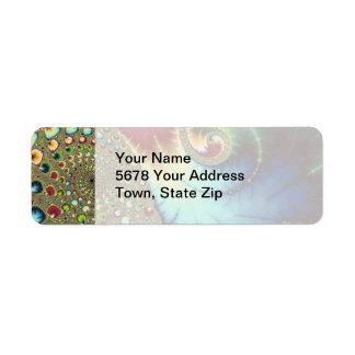 Joanie 50 Fractal Art Label