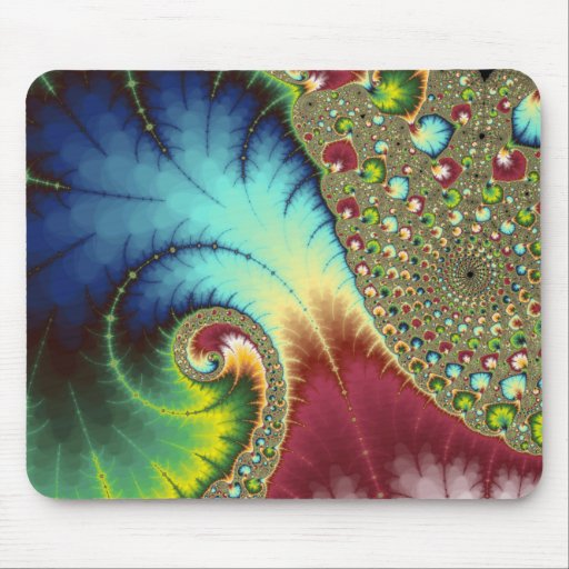 Joanie 50 Fractal Art Mouse Pad