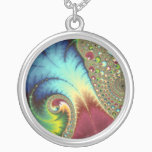 Joanie 50 Fractal Art Silver Plated Necklace