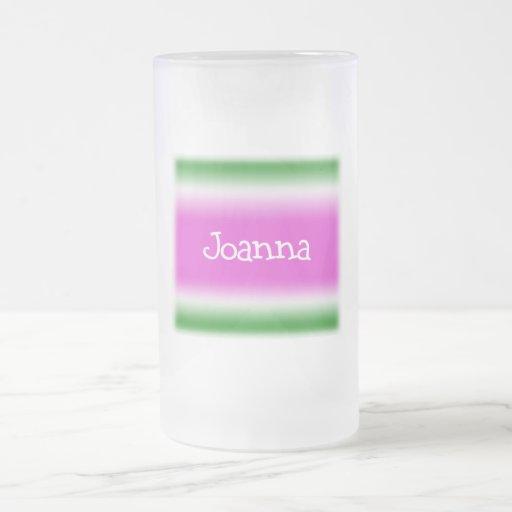 Joanna 16 Oz Frosted Glass Beer Mug