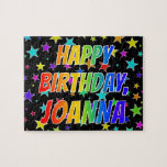"[ Thumbnail: ""Joanna"" First Name, Fun ""Happy Birthday"" Jigsaw Puzzle ]"