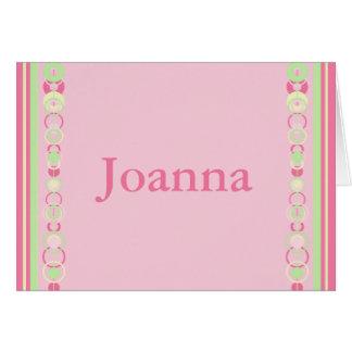 Joanna Modern Circles Custom Name Card