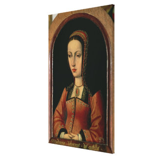 Joanna or Juana `The Mad' of Castile Stretched Canvas Print