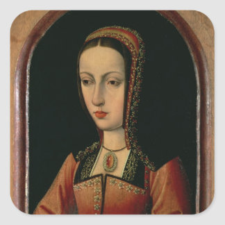 Joanna or Juana `The Mad' of Castile Square Sticker