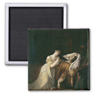 Joanna the Mad  with Philip I the Handsome 2 Inch Square Magnet