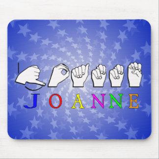 JOANNE FINGERSPELLED ASL NAME SIGN MOUSE PAD