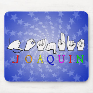 JOAQUIN FINGERSPELLED ASL NAME SIGN MOUSE PAD