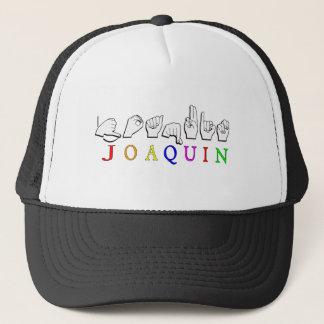 JOAQUIN FINGERSPELLED ASL NAME SIGN TRUCKER HAT
