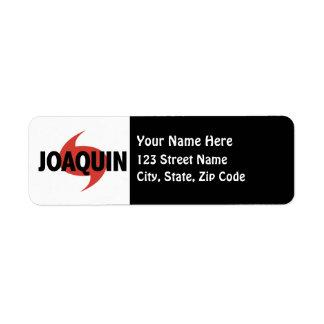 Joaquin Hurricane Symbol Label