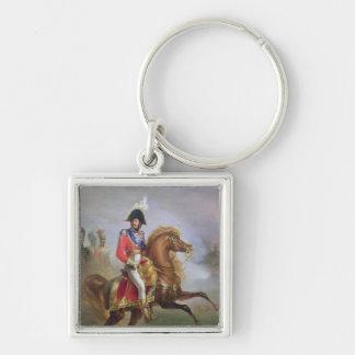 Joaquín Murat a caballo, 1814-15 Llavero Cuadrado Plateado