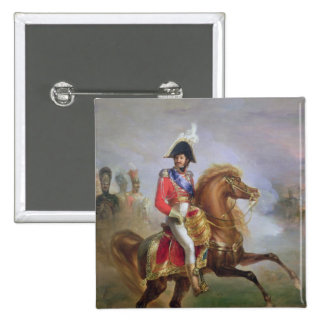 Joaquín Murat a caballo, 1814-15 Pin Cuadrada 5 Cm