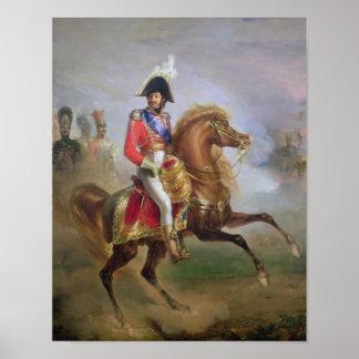 Joaquín Murat a caballo, 1814-15 Póster