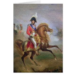 Joaquín Murat a caballo, 1814-15 Tarjeta De Felicitación