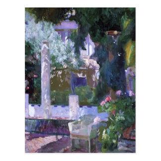 Joaquín Sorolla- Bush color de rosa en la casa de  Postal