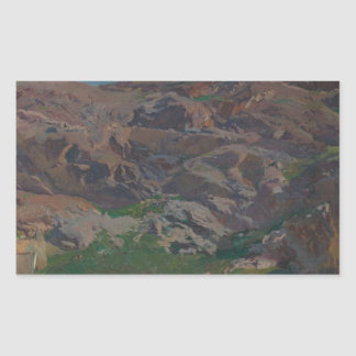 Joaquin Sorolla - Castle of San Servando, Toledo Rectangular Sticker