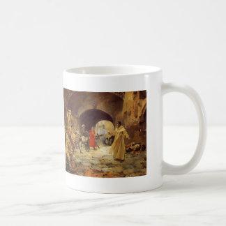 Joaquín Sorolla- Father Jofré Protecting a Madman Classic White Coffee Mug