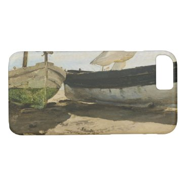 Beach Themed Joaquin Sorolla - Fishing boats on the beach iPhone 7 Case