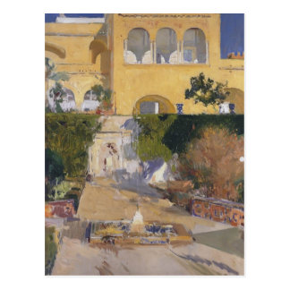 Joaquín Sorolla-Noon sun at the Alcázar of Seville Postcard