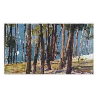 Joaquín Sorolla- Pine Trees Business Card Template