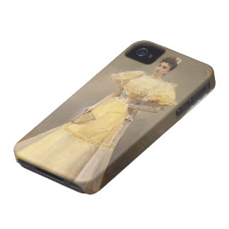 Joaquín Sorolla- Portrait of Countess of Santiago Case-Mate iPhone 4 Cases
