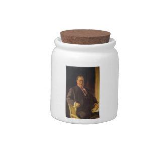 Joaquín Sorolla- Portrait of Mr. Taft, President Candy Dish