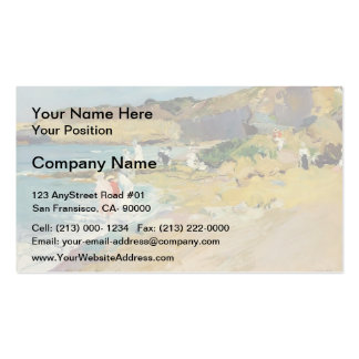 Joaquín Sorolla-Rocks and the Lighthouse, Biarritz Double-Sided Standard Business Cards (Pack Of 100)