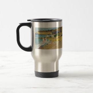 Joaquín Sorolla-Rocks and the Lighthouse, Biarritz Coffee Mugs