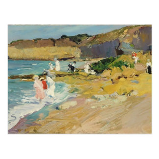 Joaquín Sorolla-Rocks and the Lighthouse, Biarritz Post Card