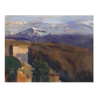 Joaquín Sorolla- Sierra Nevada, Granada Tarjetas Postales