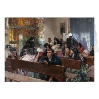 Joaquin Sorolla - The Baptism Card