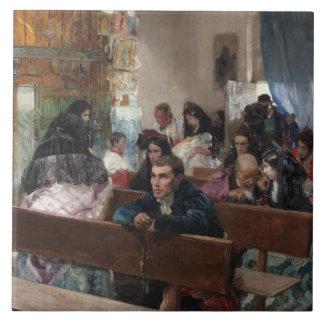 Joaquin Sorolla - The Baptism Ceramic Tile