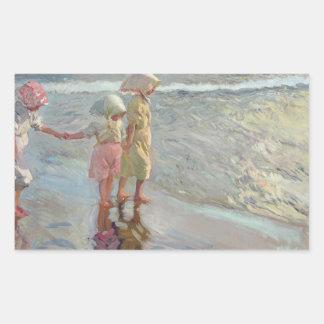 Joaquin Sorolla - The Three Sisters Rectangular Sticker