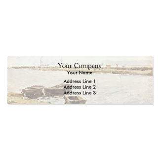 Joaquín Sorolla- Three Boats By A Shore Business Cards