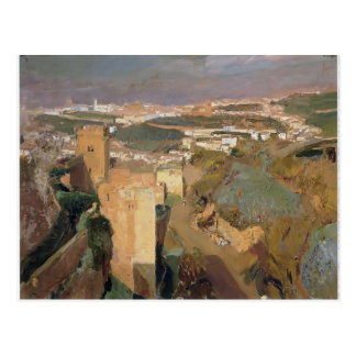 Joaquín Sorolla- Tower of Seven, pont Alhambra Postcard