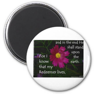 Job 19:25 I know that my Redeemer Lives! Magnet